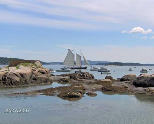 Schooner in Stonington Harbor