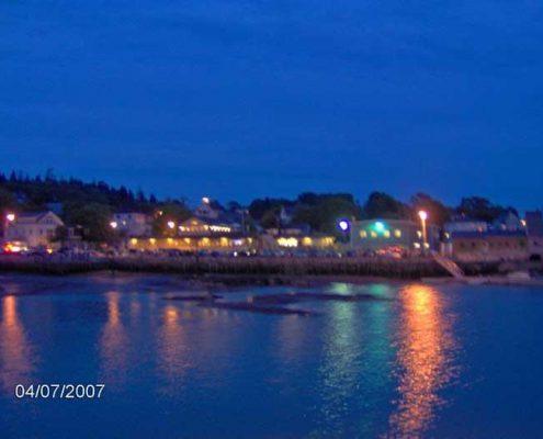 Stonington Harbor at Night